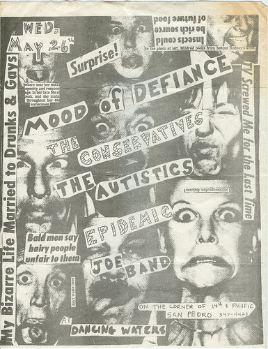 Mood Of Defiance-The Conservatives-The Autistics-Epidemic @ San Pedro CA 5-26-82