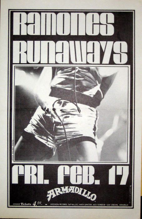 Ramones-The Runaways @ Armadillo Austin TX 2-17-79