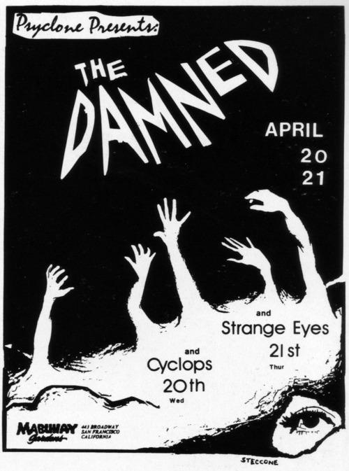 The Damned-Strange Eyes-Cyclops @ Mabuhay Gardens San Francisco CA 1977