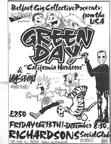 Green Day @ Richardsons Social Club Belfast Ireland 12-13-91