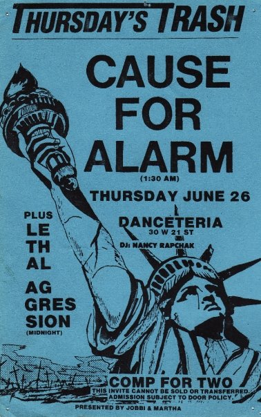Cause For Alarm-Lethal Aggression @ Danceteria New York City NY 6-26-86
