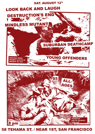 Look Back & Laugh-Destruction's End-Mindless Mutant-Suburban Deathcamp-Young Offenders @ San Francisco CA 8-12-06