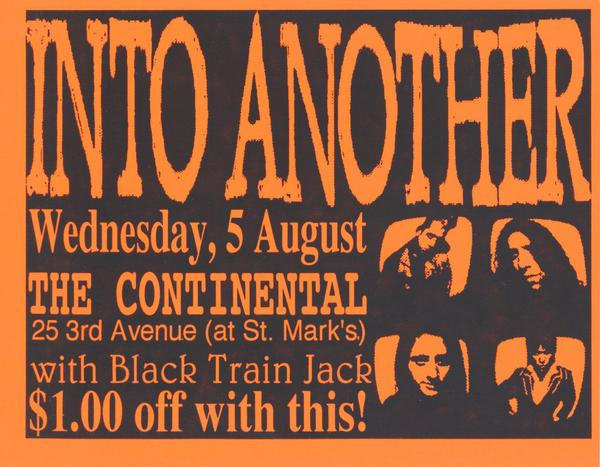Into Another-Black Train Jack @ Continental New York City NY 8-5-93
