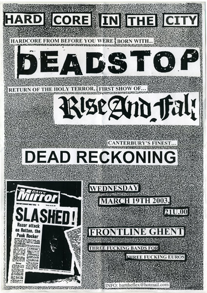 Dead Stop-Rise & Fall-Dead Reckoning @ Frontline Ghent Belgium 3-19-03