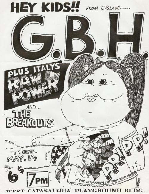 GBH-Raw Power-The Breakouts @ West Catasauqua Playground Building West Catasauqua PA 5-14-85