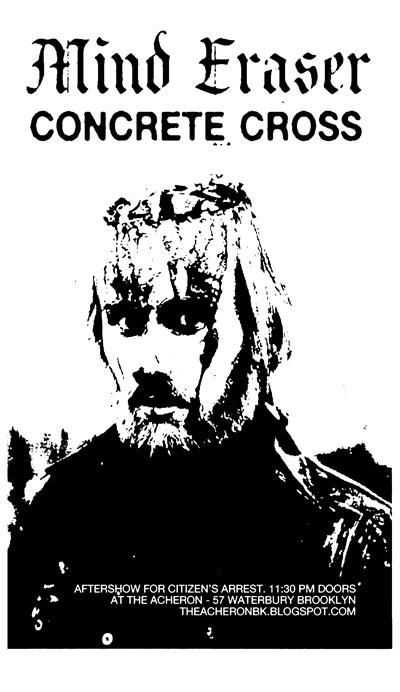 Mind Eraser-Concrete Cross @ The Archeron Brooklyn NY 12-17-10