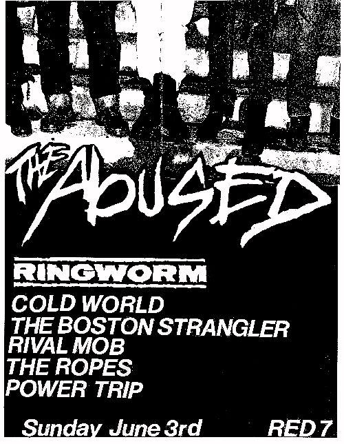 The Abused-Ringworm-Cold World-Boston Strangler-The Rival Mob-The Ropes-Power Trip @ Red 7 Austin TX 6-3-12