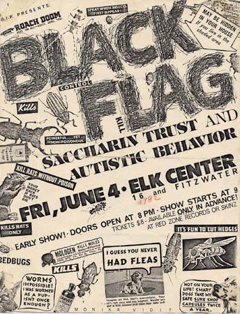 Black Flag-Saccharine Trust-Autistic Behavior @ Elk Center Philadelphia PA 6-4-82