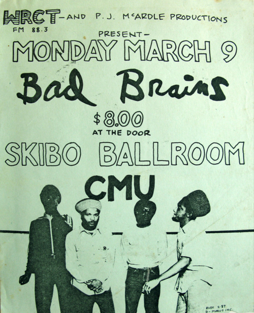 Bad Brains @ Skibo Ballroom Pittsburgh PA 3-9-87