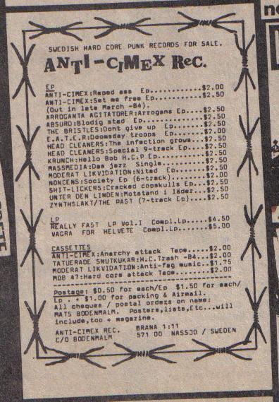 Anti Cimex Records