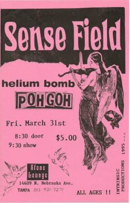 Sensefield-Helium Bomb-Pohgoh @ Stone Lounge Tampa FL 3-31-95