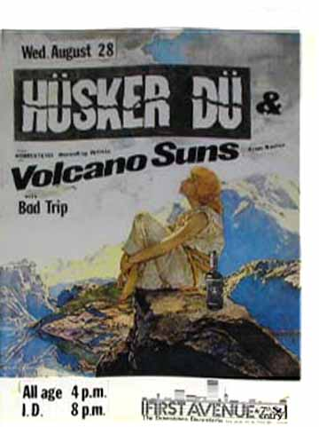 Husker Du-Volcano Suns-Bad Trip @ 7th St. Entry Minneapolis MN 8-28-85