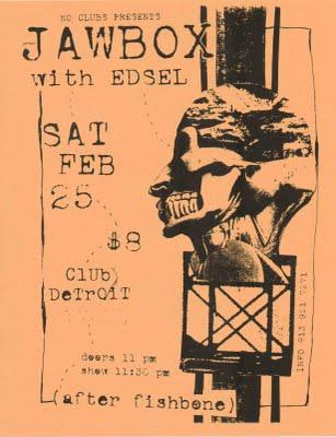 Jawbox-Edsel @ Club Detroit St. Petersburg FL 2-25-95
