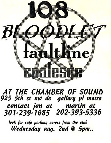 108-Bloodlet-Faultline-Coalesce @ Chamber Of Sound Washington DC 8-2-95