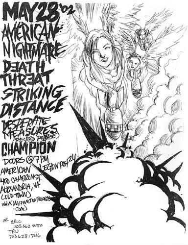 American Nightmare-Death Threat-Striking Distance-Desperate Measures-Champion @ American Legion 24 Alexandria VA 5-28-02