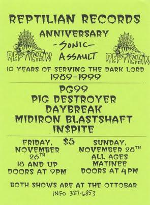 Reptilian Records Anniversary 1999