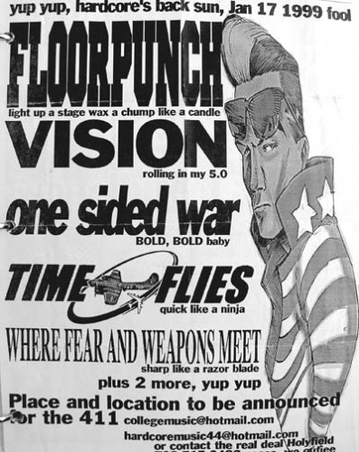 Floorpunch-Vision-One Sided War-Time Flies-Where Fear & Weapons Meet 1-17-99