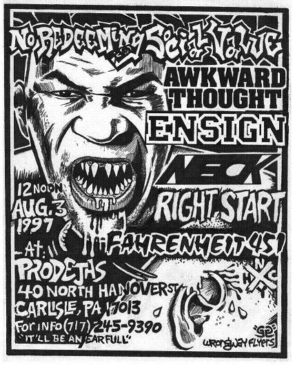 NRSV-Awkward Thought-Ensign-Neck-Right Start-Fahrenheit 451 @ Prodejhs Carlisle PA 8-3-97
