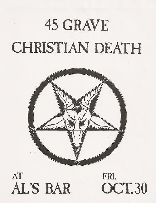 45 Grave-Christian Death @ Al's Bar 10-30-81