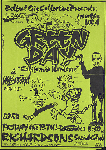 Green Day-Unsound @ Richardsons Social Club Belfast Ireland 12-13-91