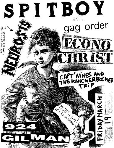 Spitboy-Gag Order-Neurosis-Econochrist @ Gilman St. Berkeley CA 3-19-91