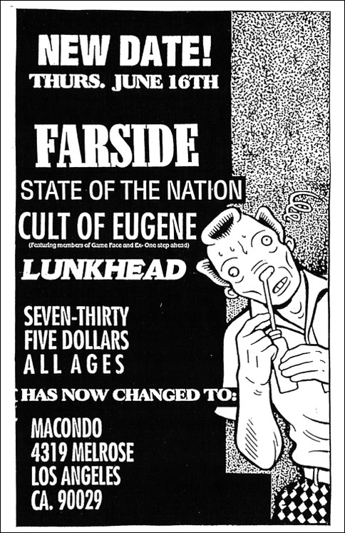 Farside-State Of The Nation-Cult Of Eugene-Linkhead @ Macondo Los Angeles CA 6-16-94