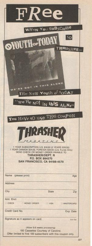 Youth of Today/Thrasher Magazine Promo