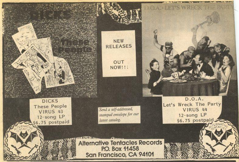 Alternative Tentacles Records (The Dicks, DOA)
