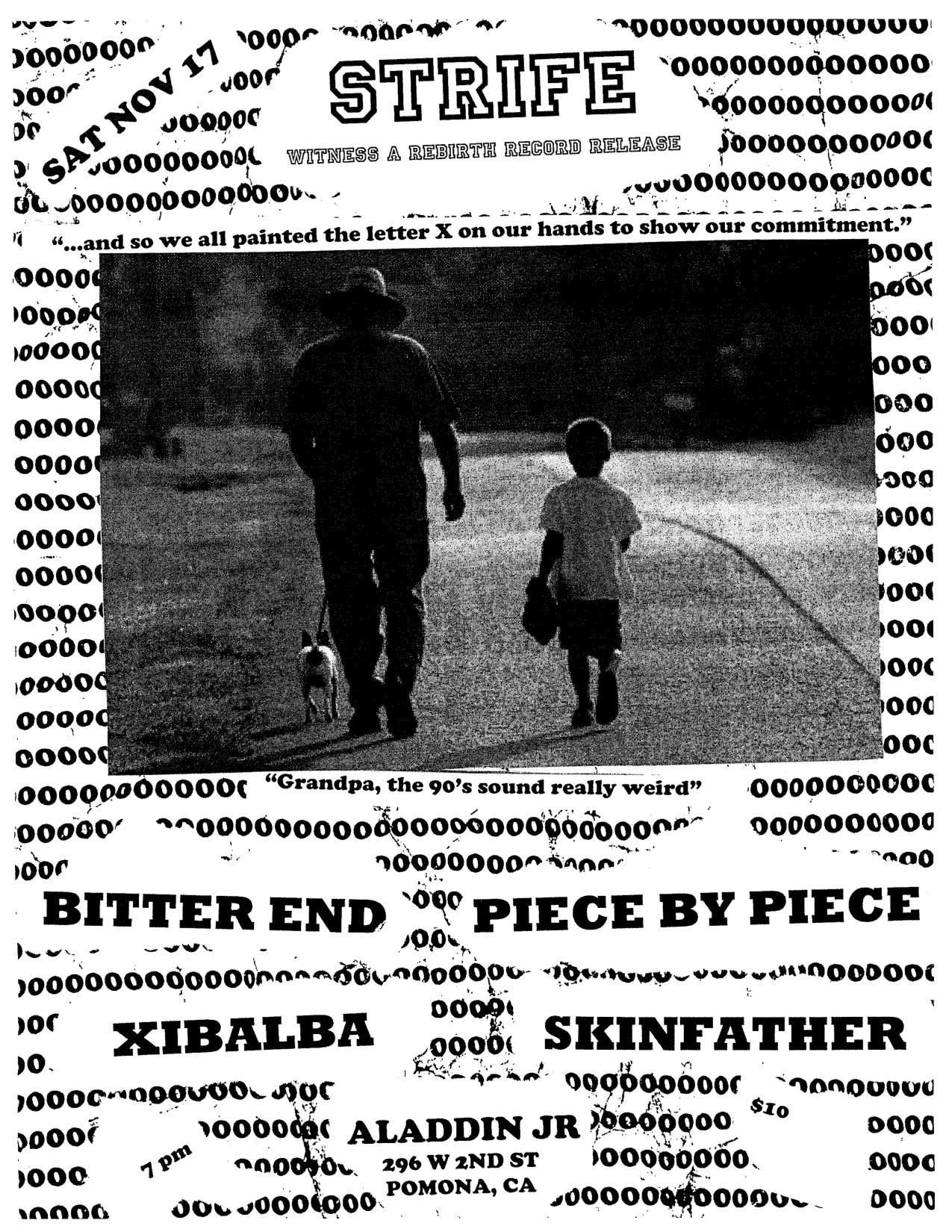 Strife-Bitter End-Piece By Piece-Xibalba-Skinfather @ Aladdin JR Pomona CA 11-17-12