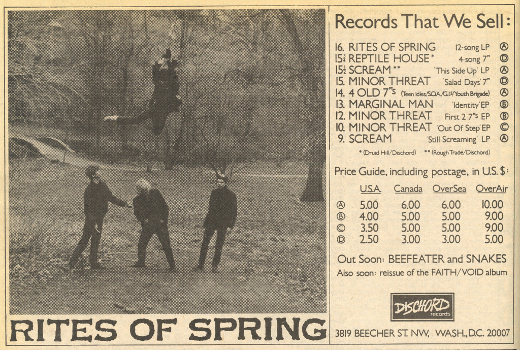 Rites Of Spring (Dischord Records)