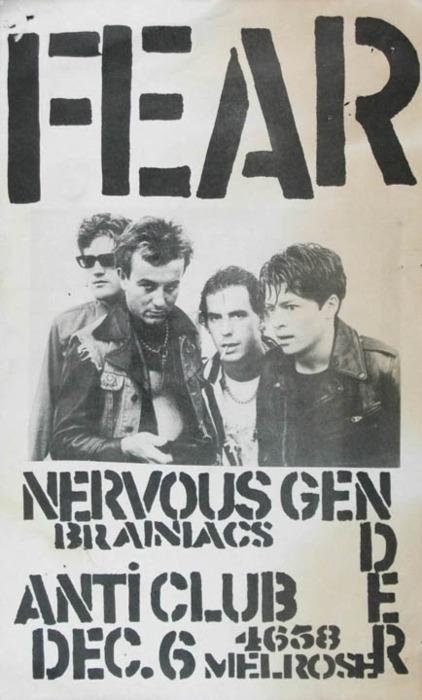Fear-Nervous Gender-Brainiacs @ Anti Club Hollywood CA 12-6-78