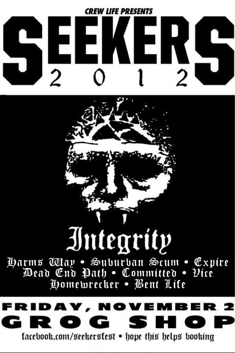 Integrity-Harm's Ways-Suburban Scum-Expire-Dead End Path-Committed-Vice-Homewrecker-Bent Life @ Grog Shop Cleveland OH 11-2-12