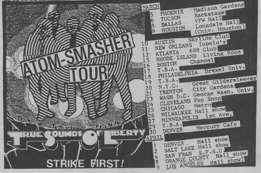 """TSOL """"Atom-Smasher"""" Tour"""