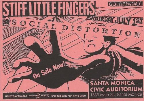 Stiff Little Fingers-Social Distortion @ Santa Monica Civic Auditorium Santa Monica CA 7-1-84
