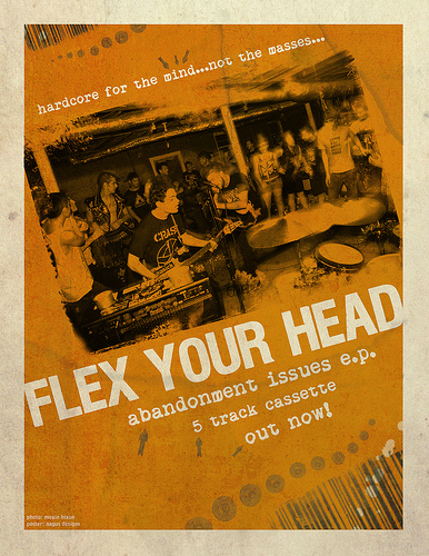 Flex Your Head (Flyer Designed By Dave K From Hardware Fanzine)