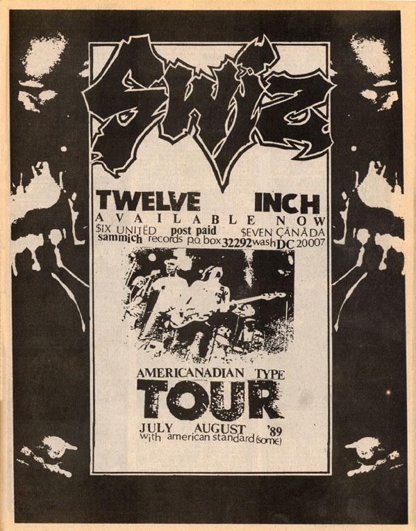 Swiz/American Standard Tour 1989