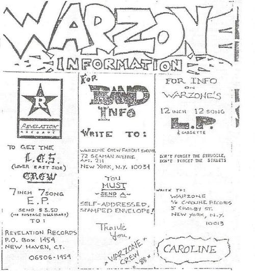 War Zone (Revelation Records)