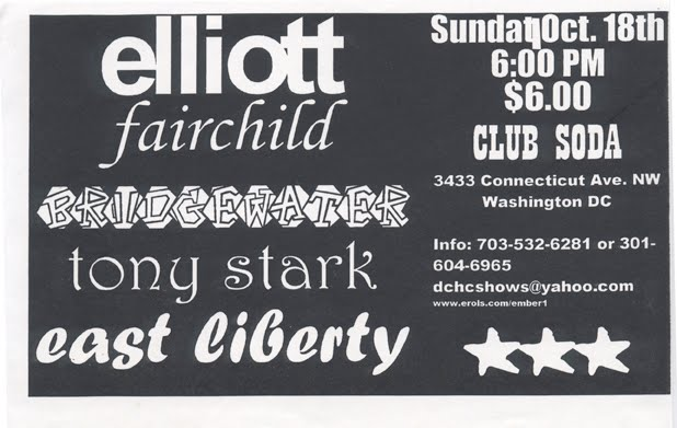 Elliot-Fairchild-Bridgewater-Tony Stark-East Liberty @ Club Soda Washington DC 10-18-98
