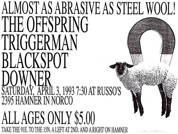 The Offspring-Triggerman-Blackspot-Downer @ 4-3-93