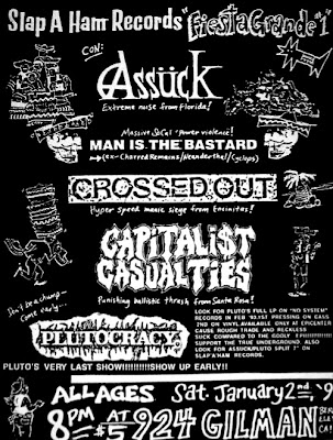 Assuck-Man Is The Bastard-Crossed Out-Capitalist Casaulties-Plutocracy @ Gilman St. Berkeley CA 1-2-93