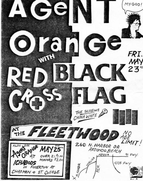 Agent Orange-Redd Kross-Black Flag-The Screws-China White @ Fleetwood Redondo Beach CA 5-23-80
