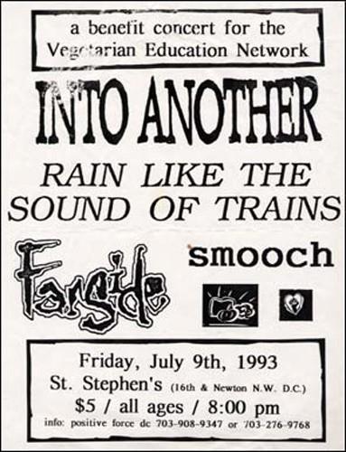 Into Another-Rain Like The Sound Of Trains-Farside-Smooch @ St Stephens Church Washington DC 7-9-93