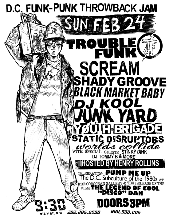 Trouble Funk-Scream-Shady Groove-Black Market Baby-Youth Brigade @ 930 Club Washington DC 2-24-13