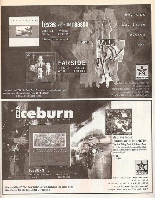 Chain Of Stength/Farside/Texas Is The Reason/Iceburn (Revelation Records)