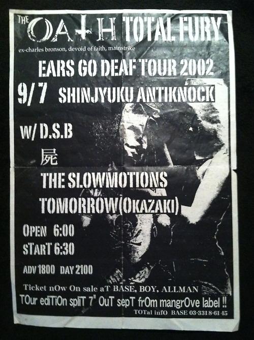 The Oath-Total Fury @ Antiknock Tokyo Japan 9-7-02