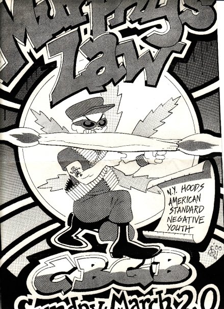 Murphy's Law-NY Hoods-American Standard-Negative Youth @ CBGB New York City NY 3-20-88
