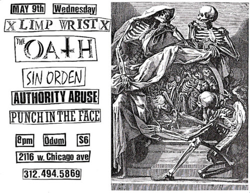 Limp Wrist-The Oath-Sin Orden-Authority Abuse-Punch In The Face @ Odum Chicago IL 5-9-01