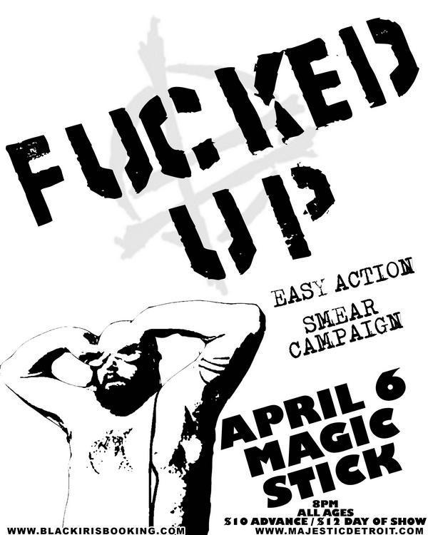 Easy Action-Fucked Up-Smear Campaign @ Magic Stick Detroit MI 4-6-09