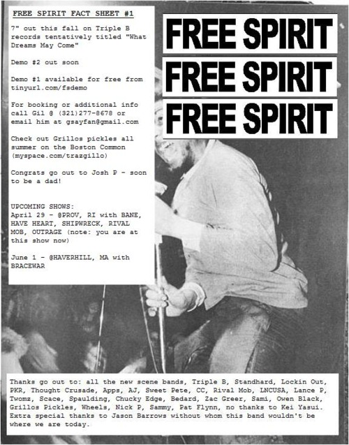 Free Spirit Fact Sheet One