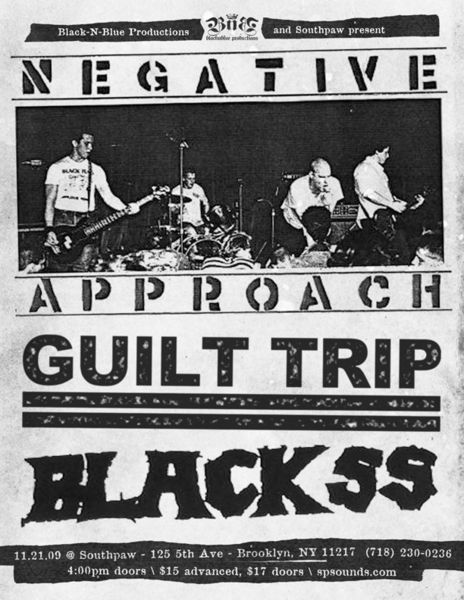 Negative Approach-Guilt Trip-Black SS @ Southpaw Brooklyn NY 11-21-09